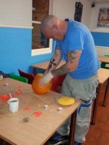Chris Carving 2